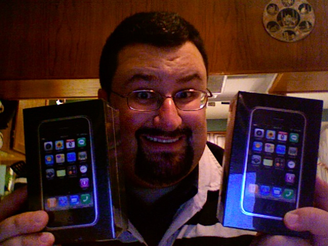 Dave and two iPhones