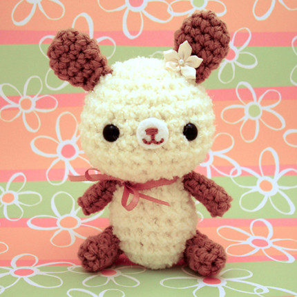 cream rabbit. Amigurumi Cream Bunny Rabbit