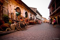 the streets of vigan (kgrln) Tags: travel vacation streets heritage architecture philippines cobblestone vigan province ancestral ilocossur crisologo