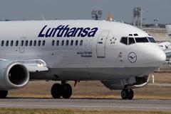 Lufthansa Boeing 737-530 D-ABIT Neumnster (13815) (Thomas Becker) Tags: plane germany airplane geotagged deutschland airport nikon hessen frankfurt aircraft 1991 boeing d200 tamron lufthansa spotting fra 737 200500 fraport b737 neumnster r