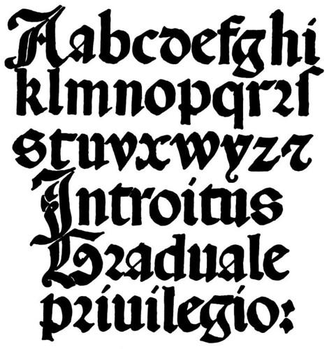 Gotico italiano minusculas siglo 16