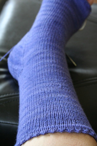Simple stockinette sock