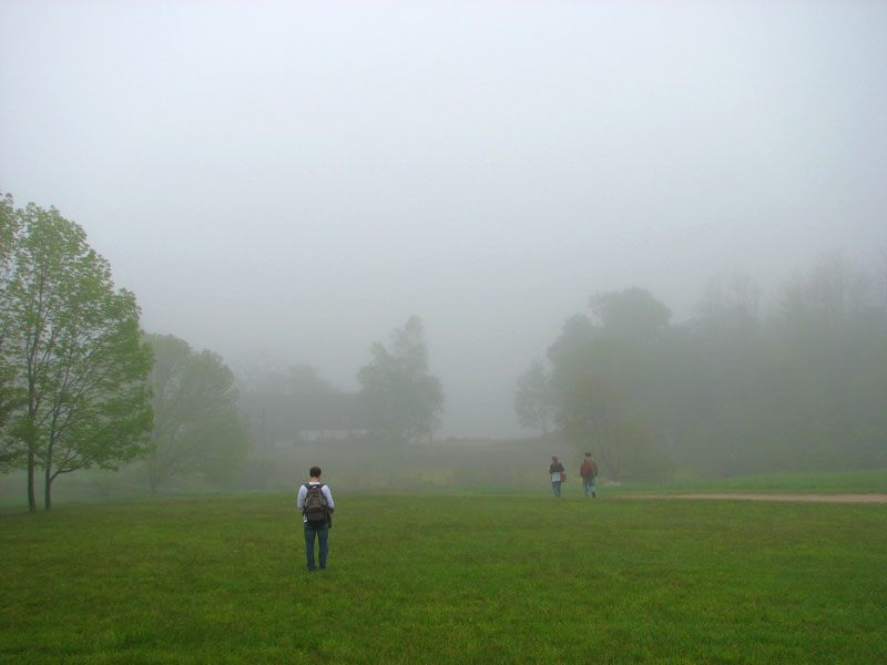 Foggy morning outside Education Center