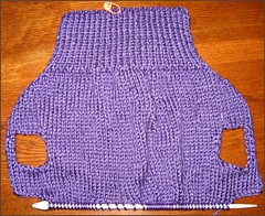 Dog sweater in progress