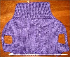 Dog sweater in progress