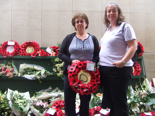 Lynne and Kay with wreath