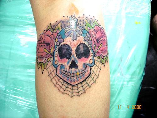 tatuagem new school caveirinha