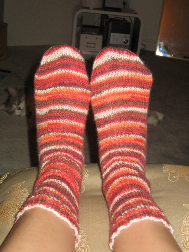 2 socks on 2 circs - done!