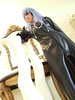 Kingdom Hearts II Organization XIII style coat (w/ giant zipper and new chain + beads)