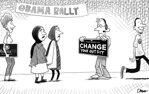 change your head dress obama cartoon