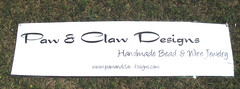 booth banner on the cheap (Paw & Claw Designs) Tags: diy banner thrift cheap