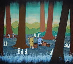 In which the forest gets a spring clean (Noferin.) Tags: bunnies forest spring basket clean poo pecan collecting sweeping lilyofthevalley groupshow hifructose pandacake copronasongallery noferin treesnoferin