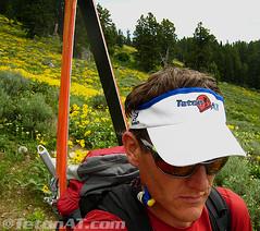 Hiking through Arrowhead Balsam Root