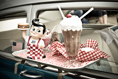 Slider, Fries and a Shake please