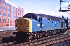 Class 40 no. D204 at Kilmarnock Sept 1968.  A. Wilson
