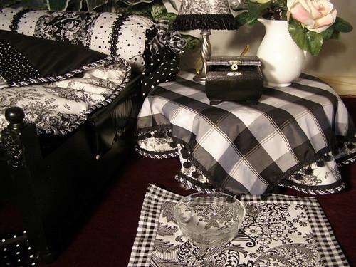 Black Toile Placemats Black Toile Basket Weave Placemat