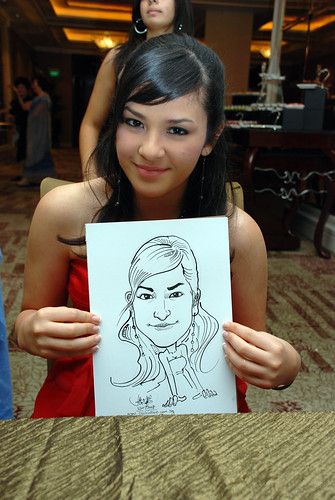 caricature live sketching for wedding dinner 120708  - 40