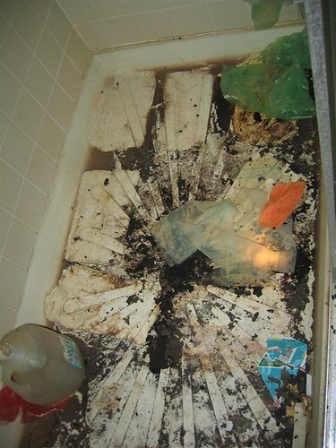 Disused nasty shower