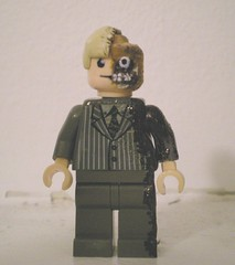 two face front 1 (chaosfish1) Tags: shark starwars halo kfc batman joker custom darkknight twoface apoc moc halo3 customlego colonalsanders
