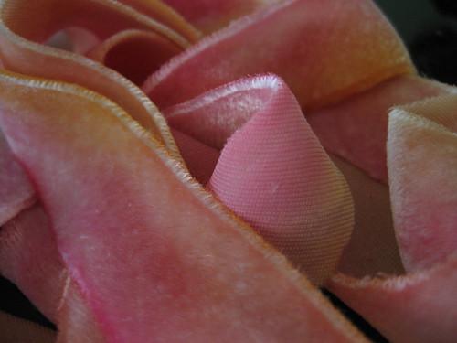 Pink Velvet Ribbon by you.