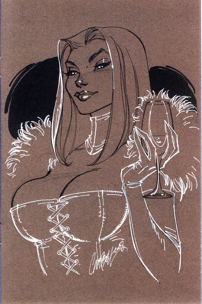 White Queen (J Scott Campbell Sketchbook, 2008)