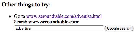 Google 404 tool
