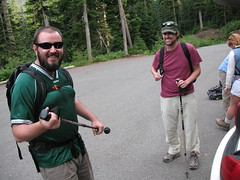 B-Dog and El Presidente are all smiles at the trailhead. If they only knew.