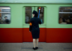 Pyongyang subway (Eric Lafforgue) Tags: pictures travel train subway photo war asia picture korea kimjongil asie coree journalist journalists northkorea pyongyang  dprk  coreadelnorte juche kimilsung nordkorea lafforgue   ericlafforgue   coredunord coreadelnord 4852  northcorea coreedunord rdpc  insidenorthkorea  rpdc   demokratischevolksrepublik coriadonorte  kimjongun coreiadonorte