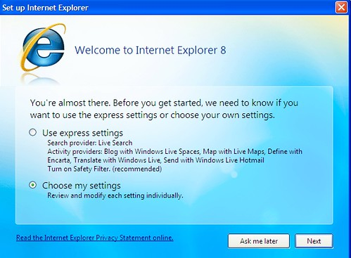 Welcome To IE8