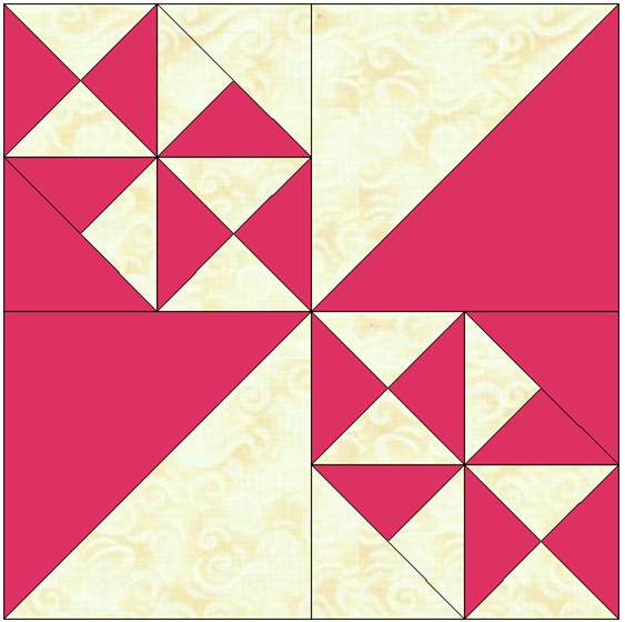 Scrappy Triangle Squares Quilt Pattern
