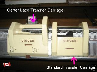 Superba ~ Singer ~ White ~ Phildar Transfer Carriages