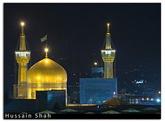 Iran: The Holy Shrine in Mashhad (Hussain Shah.) Tags: night d50 golden nikon shrine shot iran sigma holy dome mashhad shah imam riza hussain 18200mmos