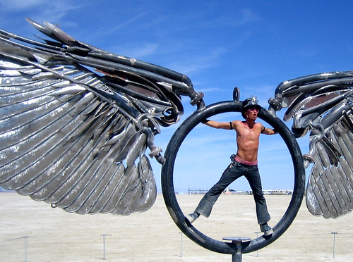 gorgeous spinning playa wings