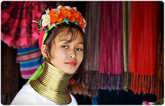 Unconventional beauty (Fabio Sabatini) Tags: travel portrait people portraits neck thailand necklace blog women asia southeastasia long village faces burma traditional hill tribal karen ring rings longneck tribes myanmar tribe ethnic brass burmese mujeres birma coils bodymodification indigenous villagers hilltribes padang hilltribe longnecktribe karentribe padong longnecks padaung birmanie collo kayan longo birmania longneckkaren tathon mujeresjirafa burmeseborder paduang giraffewomen