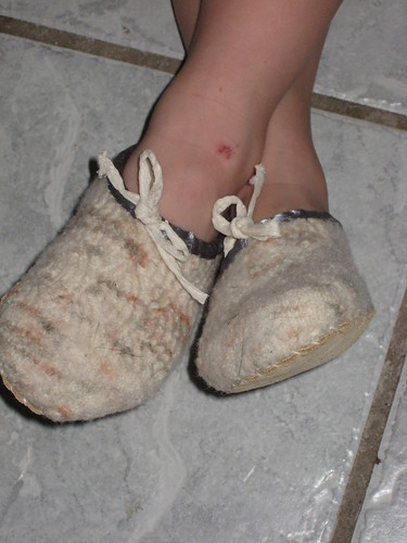 ruined socks/ perfect slippers 3