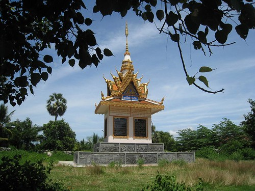 Memorial at a killing field outside Battambang