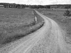 Small Swedish Gravel Road (Olof S) Tags: road county light summer wallpaper blackandwhite bw house building tree nature field grass farmhouse barn rural way landscape photography landscapes countryside photo blackwhite interesting nikon scenery europe view sweden farm schweden country natur picture natura swedish land environment nordic sverige scandinavia paysage landschaft paesaggio suede gravel suecia weg srmland vg landskap manzara grd svezia szwecja fattoria sdermanland e3500  grusvg abigfave