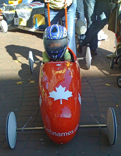The Webnames.ca entry in the 2008 Canary Soapbox Derby in Gastown