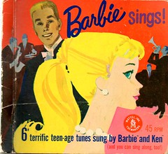 Barbie SIngs!  6 Terrific Teenage Tunes (sparkleneely) Tags: vintage ken barbie 45 retro teen record fabulous