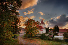 Autumn comes to Stare Misto (Stevacek) Tags: autumn fall church leaves clouds d50 geotagged nikon czech czechrepublic hdr kostel mraky eskrepublika staremisto stevacek platinumphoto vosplusbellesphotos starmsto geo:lat=5040509392853735 geo:lon=1534311603337391