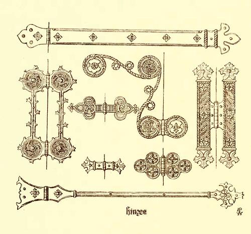 12- Bisagras en hierro y laton
