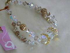 Brazalete Swarovski & filigrana (NinaPink (Tere)) Tags: gold crystal ab bracelet swarovski cristal pulsera dorado oro refill brazalete filigrana