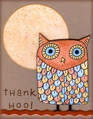 Thank Hoo card with Paper Moon (prospurring (Anne)) Tags: blue brown yellow paper cards ranger handmade monalisa stamping ribbon coloredpencils heroarts kraft xyron greetingcards oms sizzix eksuccess americancrafts patternedpaper distressink archivalink chalkinks bigowl tsukineko marvyuchida cutterbee pigmentinks cuteletters sparkleclear odorlessmineralspirits waterproofinks littlesizzles 3ddots stampinginks stampinks k5059 cl183 gigapunch cleverlever 2009catalog