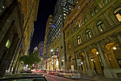Pitt Street at night (tysonroche) Tags: longexposure night canon eos scenery colours sydney dri 1022 30d pittst