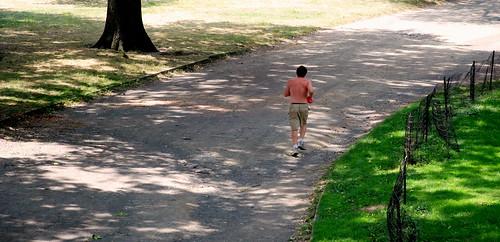 runner in central park