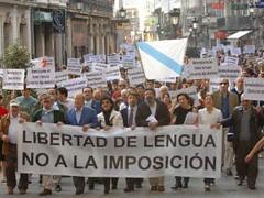 Representantes del Foro Ermua en la manifestación convocada por MLL el 1/10/2008