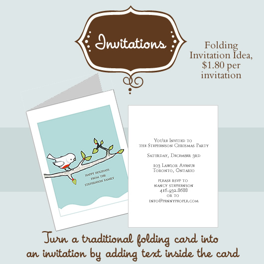 Folding Invitation Idea