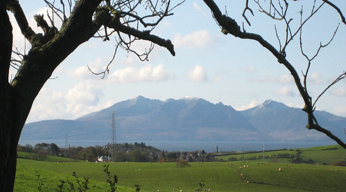 Arran over West Kilbride
