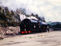 46201 at Mangotsfield, closeup, 1967 (Russ Cribb) Tags: station elizabeth princess railway steam 1967 midland mangotsfield 46201 russcribb
