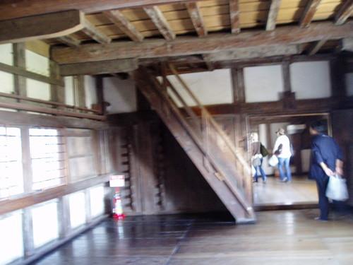 你拍攝的 姬路城階梯。